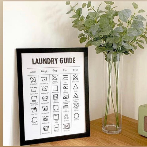 Laundry Guide Canvas Print