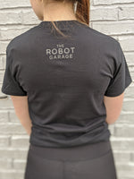 The Robot Garage T-Shirt - Black on Black