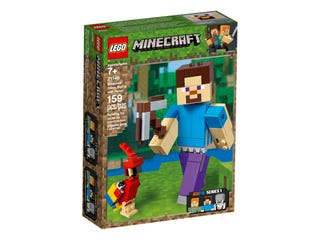 21148 Minecraft Steve BigFig with Parrot
