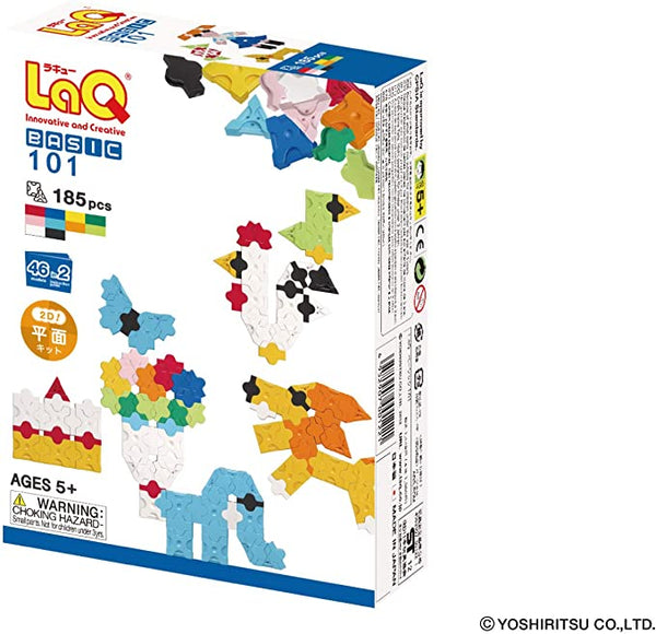 "LaQ Basic 101 ""2D"" Building Set (185pcs)"