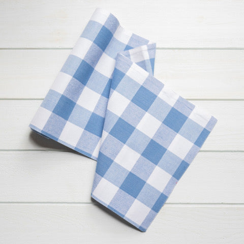 Cornflower Blue Plaid Runner