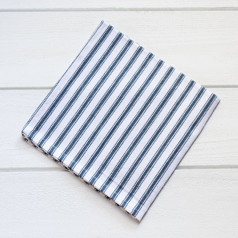 Navy Ticking Napkin