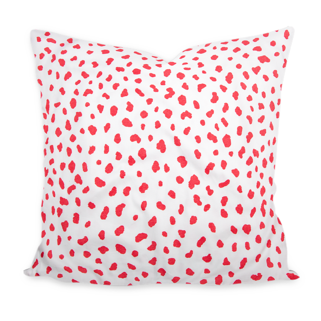 """Tanzania"" Raspberry by Thibaut Pillow"