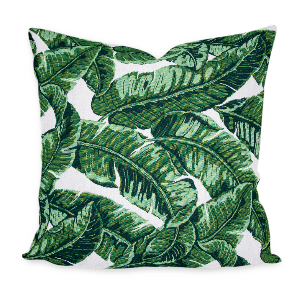 """Blanche"" Biscayne Green Palm Floral Pillow Cover"