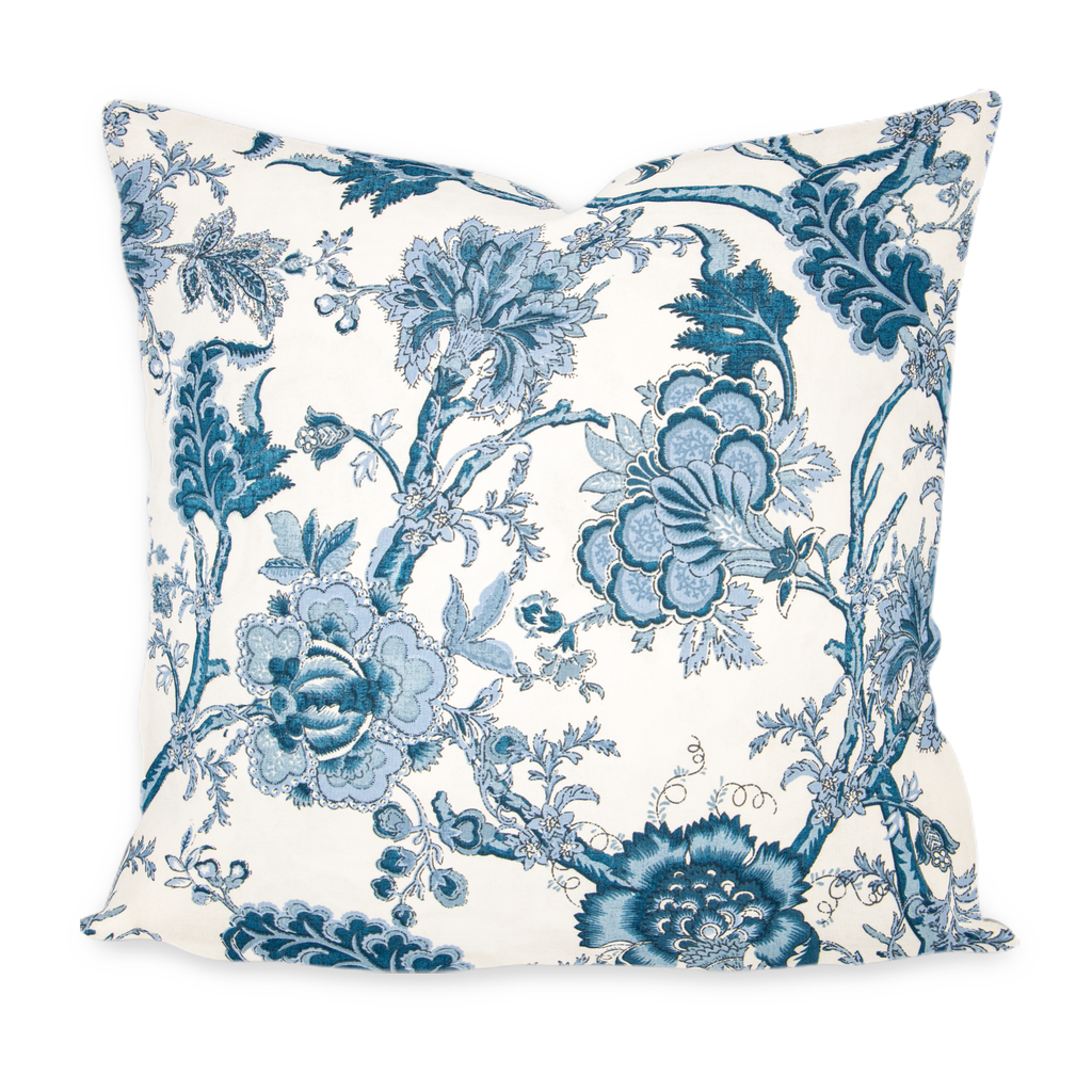 """Isabella"" Blue Floral Pillow"