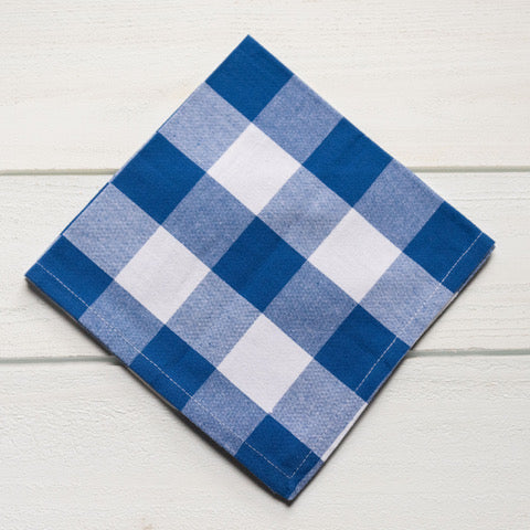 Royal & White Plaid Napkin