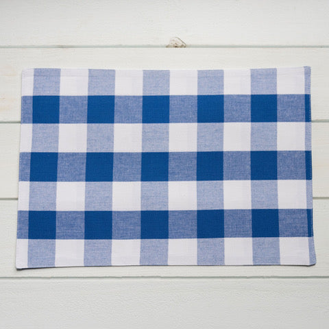 Royal & White Plaid Placemat