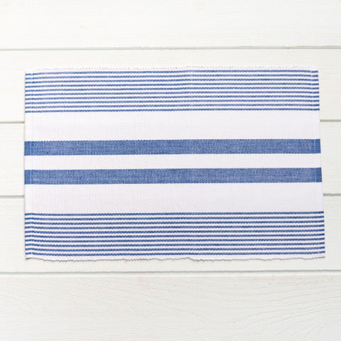 Sky & White Multi Stripe Placemat