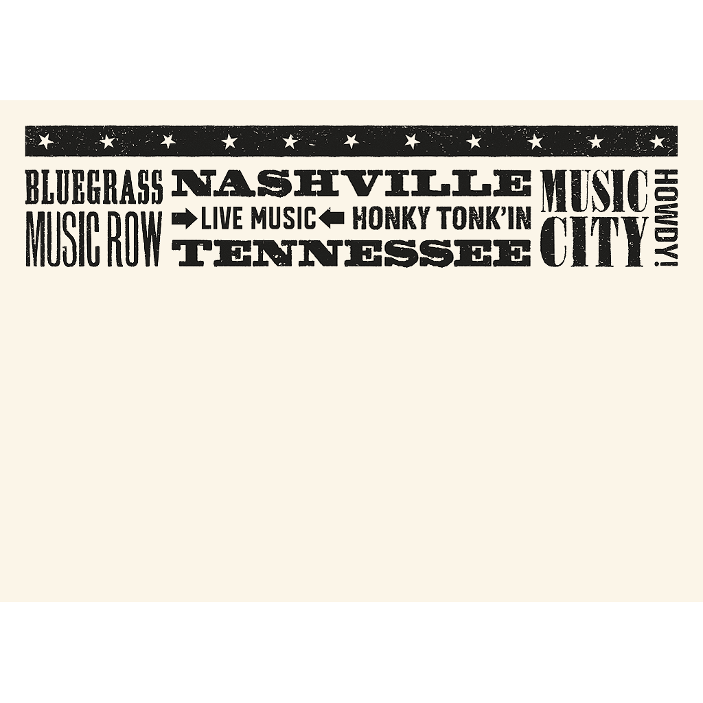 Nashville Place Card Flat