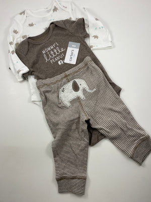 Boy's Long Sleeve Outfit - Size 3-6mo