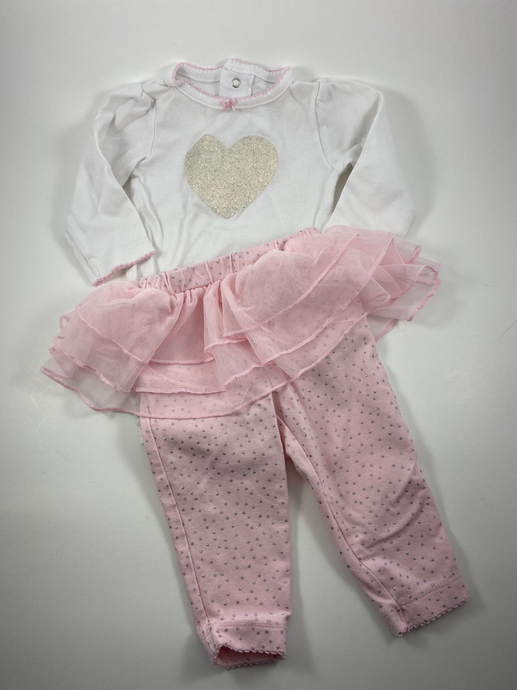 Girl's Long Sleeve Outfit - Size 6-12mo