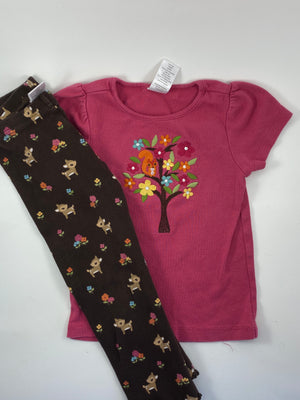 Girl's Short Sleeve Outfit - Size 3t