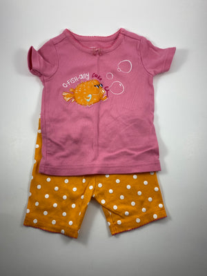 Girl's Short Sleeve Pajamas - Size 18-24mo