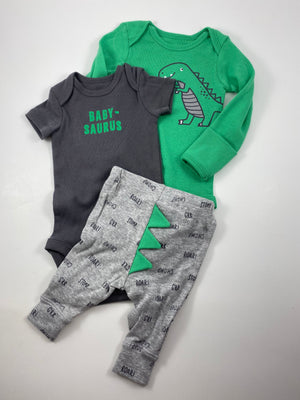 Boy's Long Sleeve Outfit - Size 0-3mo
