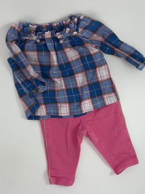 Girl's Outfit - Size 0-3mo