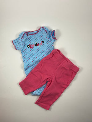 Girl's Short Sleeve Outfit - Size Newborn