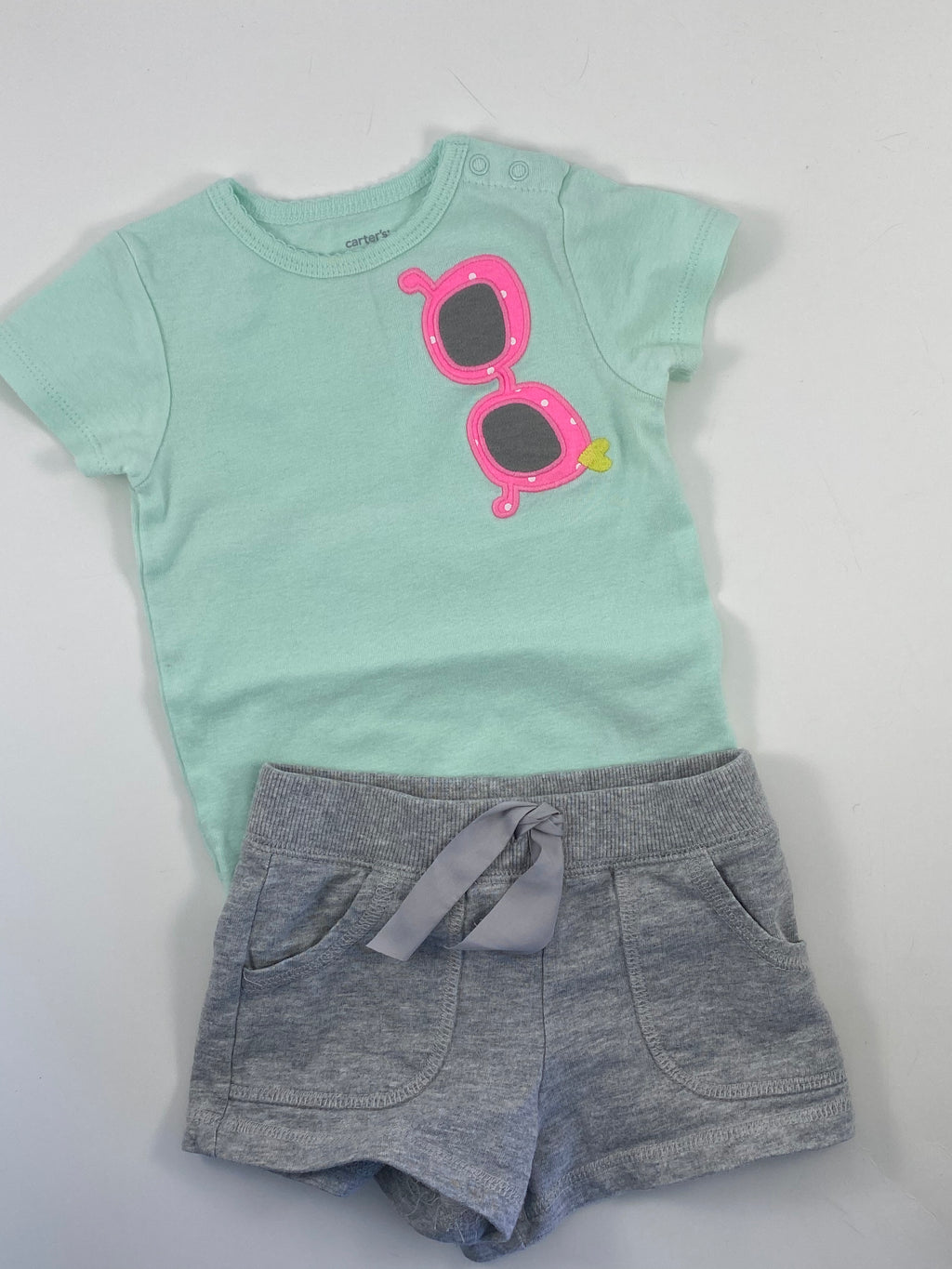 Girl's Short Sleeve Outfit - Size 18-24mo