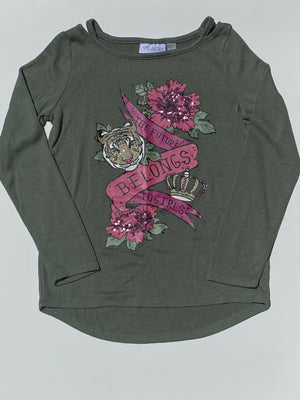 Girl's Long Sleeve Shirt - Size 7/8