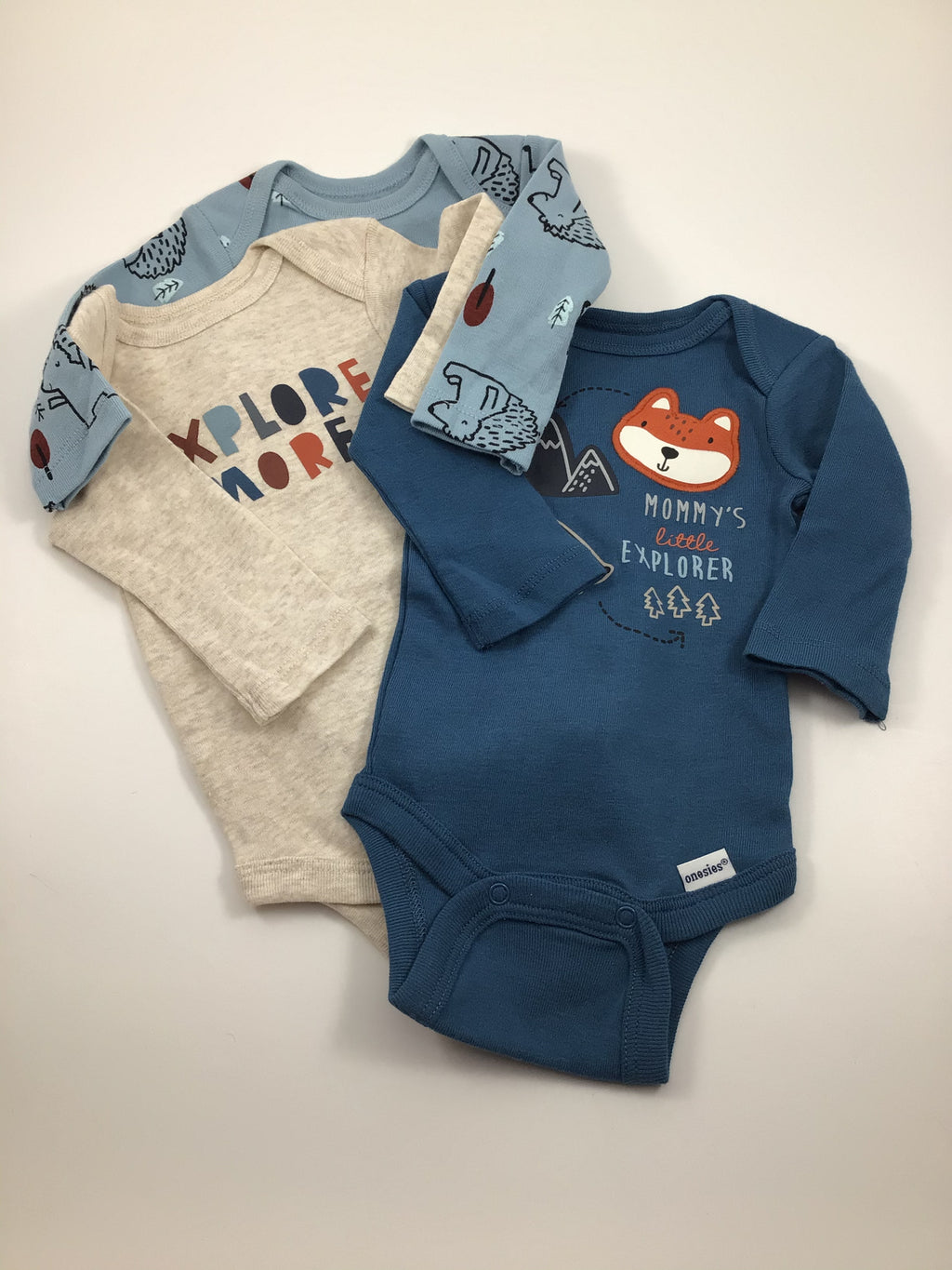 Boy's Long Sleeve Bodysuit - Size Newborn