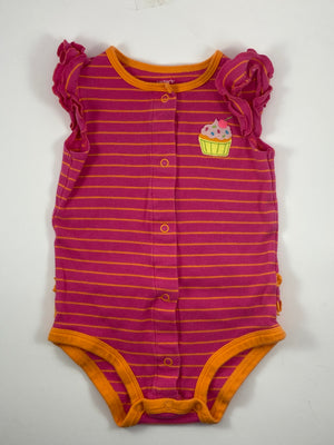 Girl's Short Sleeve Bodysuit - Size 12-18mo