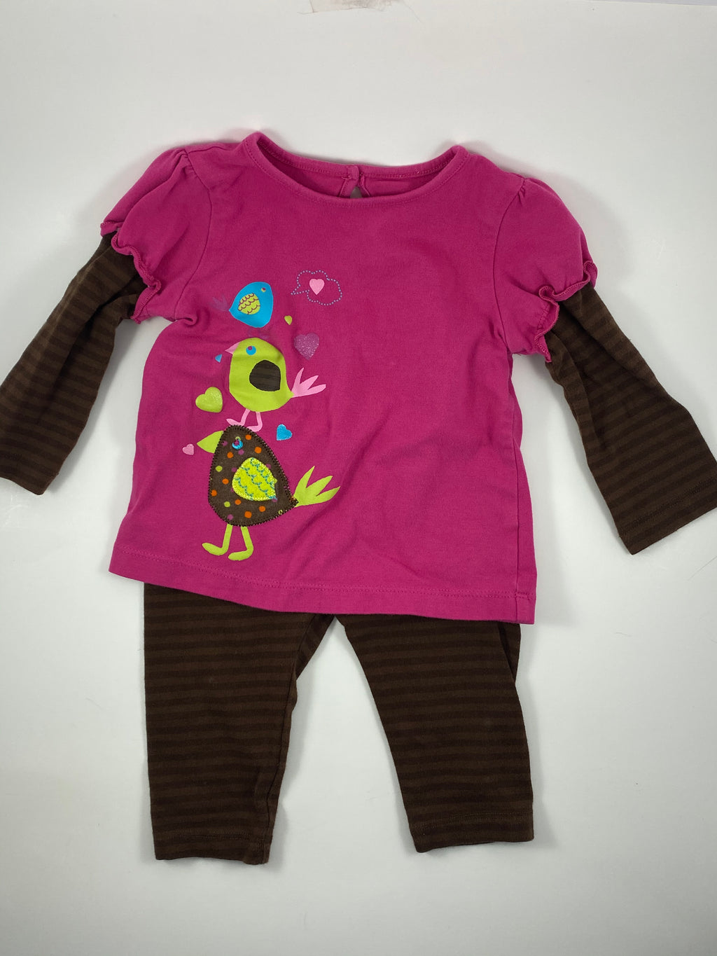 Girl's Long Sleeve Outfit - Size 12-18mo