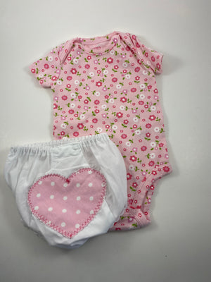 Girl's Short Sleeve Outfit - Size 3-6mo