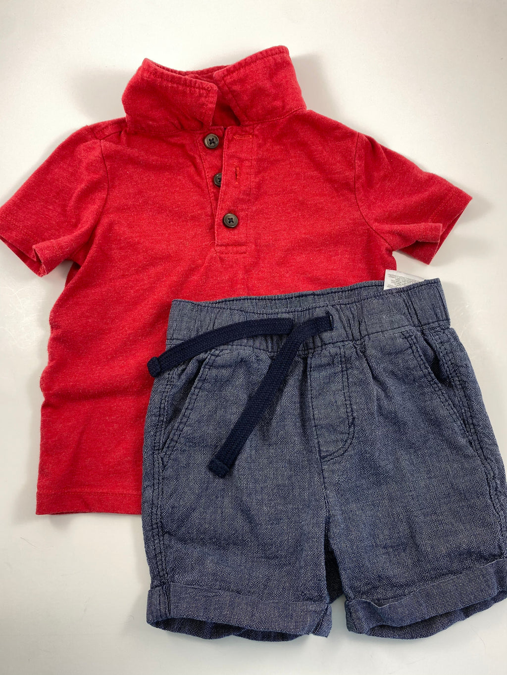 Boy's Short Sleeve Outfit - Size 12-18mo