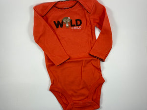Baby Girl Long Sleeve Onesie - Size 9mo
