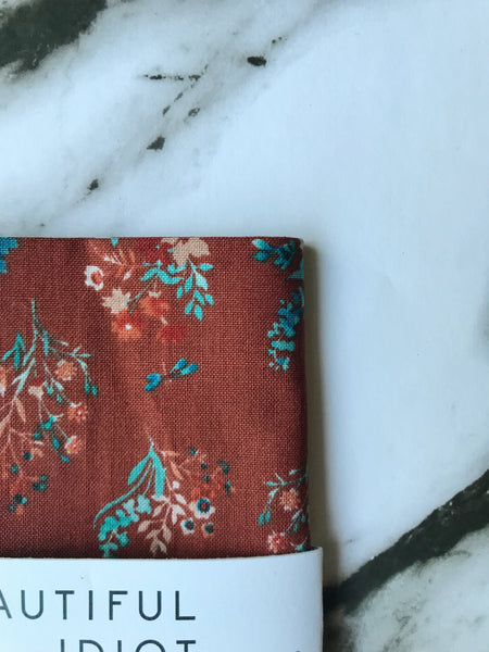 Rust Floral Pocket Square