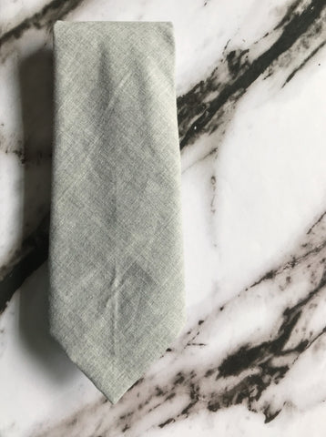 Gray Brushed Cotton Standard Tie