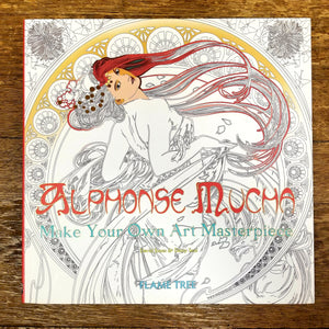 Alphonse Mucha: Make Your Own Art Masterpiece Coloring Book
