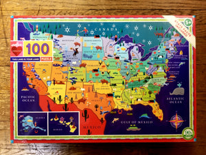 "100 pc. ""This Land is Your Land"" United States puzzle (eeBoo)"