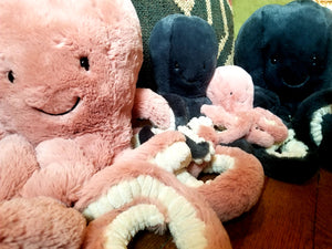 Plush octopi toys (Jellycat)