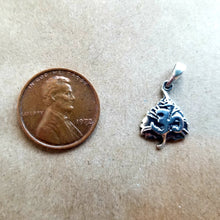 Load image into Gallery viewer, Om bohdi leaf sterling silver pendant