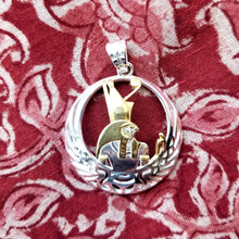 Load image into Gallery viewer, Horus sterling silver pendant