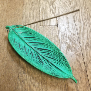 Metal leaf incense burners