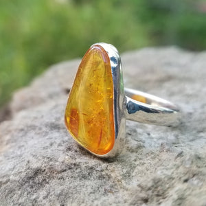 Amber ring (size 9.5)
