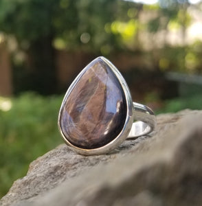 Hypersthene ring (size 10)