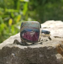 Load image into Gallery viewer, Ruby fuchsite ring (size 12)