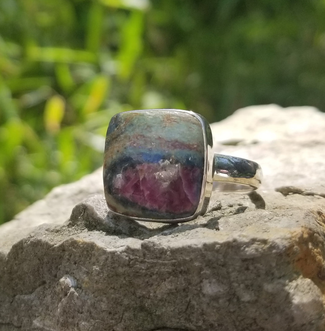Ruby fuchsite ring (size 12)