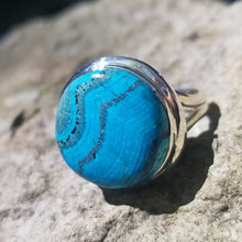 Load image into Gallery viewer, Malachite and chrysocolla ring (size 8)
