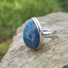 Load image into Gallery viewer, Azurite ring (size 8)