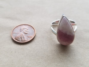 Pink tourmaline ring (size 8)