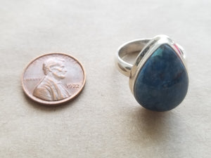 Azurite ring (size 8)