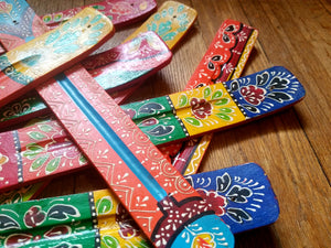 Colorful hand-painted incense burners