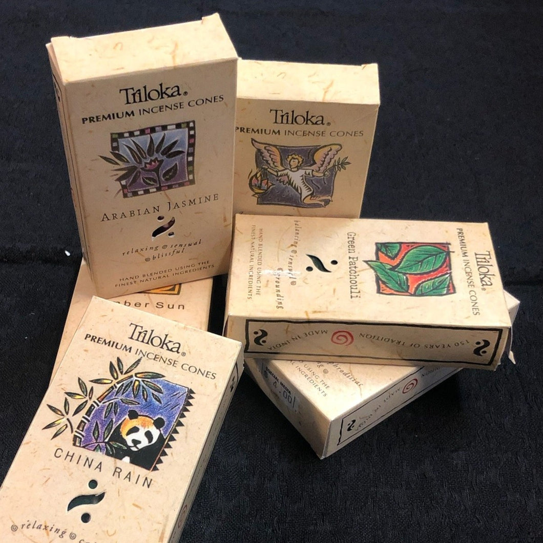 Triloka herbal incense (cones)