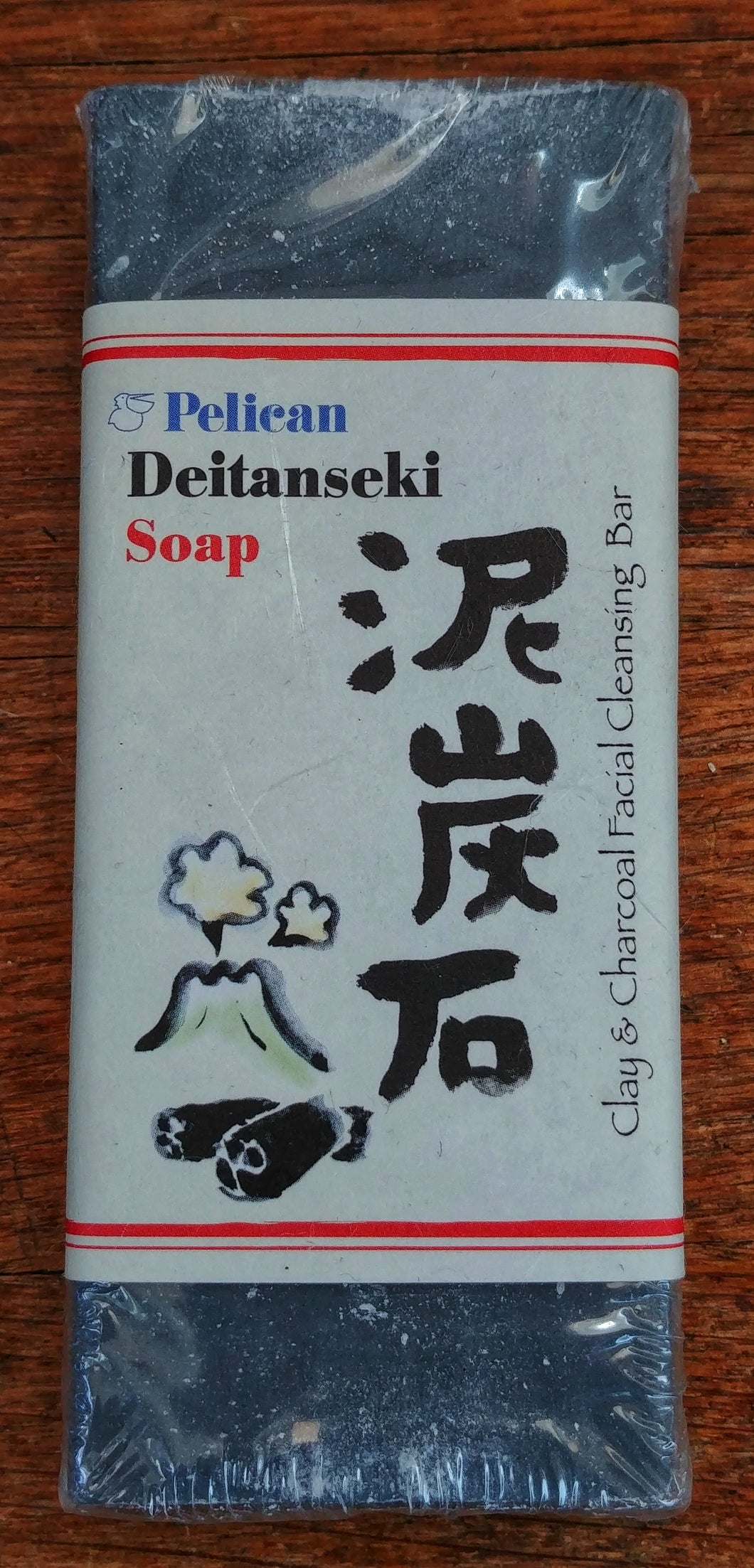 Pelican Deitanseki clay & charcoal cleansing soap