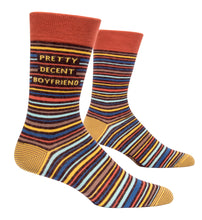 Load image into Gallery viewer, Quirky men's crew socks (Blue Q)