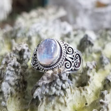 Load image into Gallery viewer, Rainbow moonstone ring (size 8)
