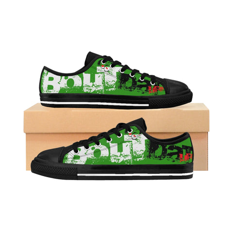 Bout Dat Life Rasta Gear Club Green Rasta Signature Logo Men's Sneakers